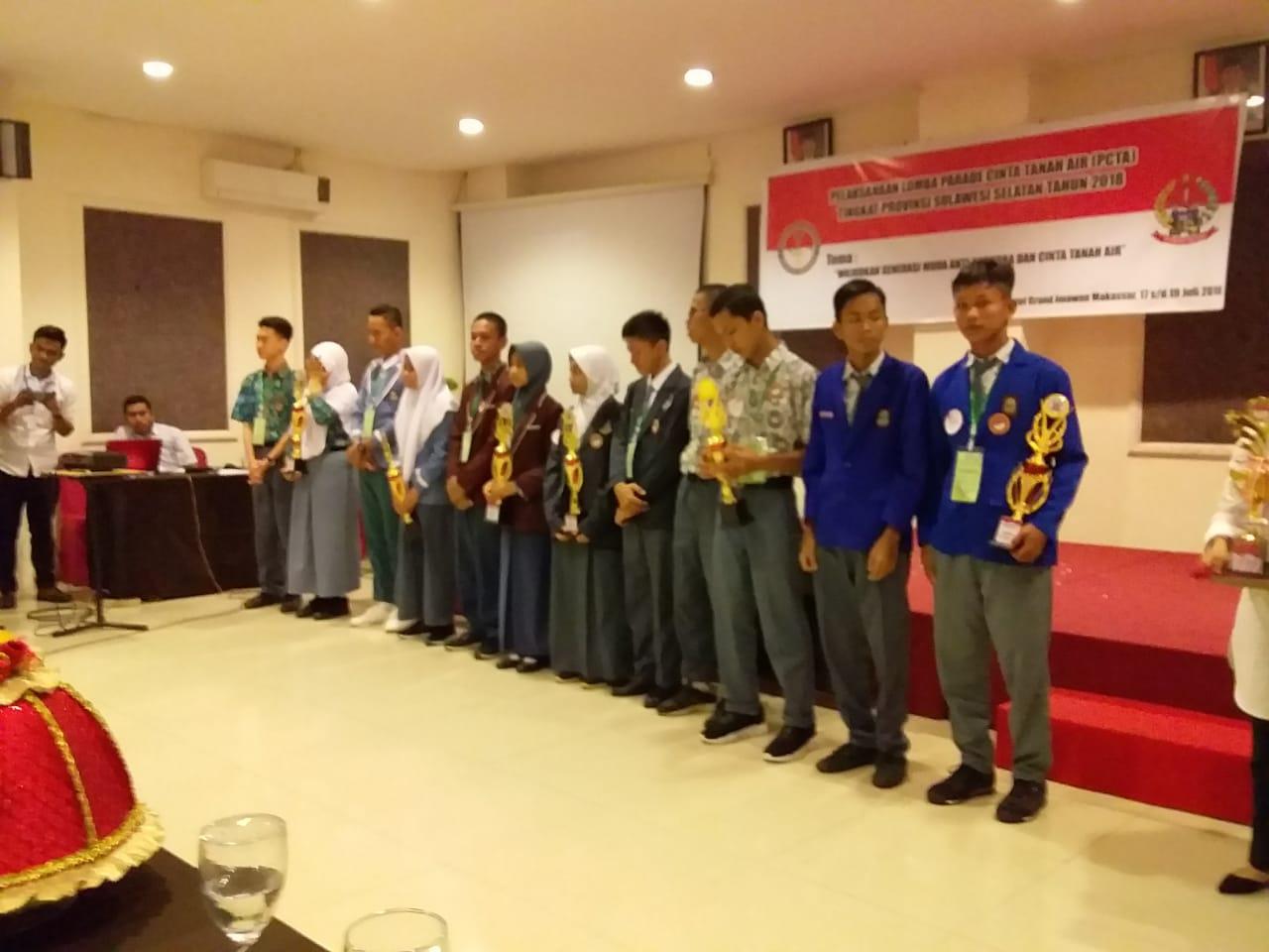 Juara Harapan III Parade Cinta Tanah Air Tingkat Provinsi Sulawesi Selatan